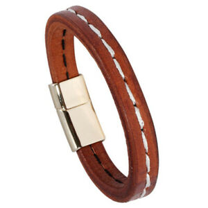 Fashion Men Punk Multilay Leather Bracelet Bangle Wristband Cuff Wrap Statement