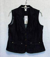 """Christopher & Banks New Sleeveless Dark Denim Vest  Size S Bust 34-35"""""""