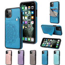 For iPhone 12 11 Pro Max Mini XR 7 8 Plus Luxury Card Holder Wallet Case Cover