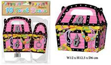 10 Scatole Rosa Pirata trattare-Piccolo Cupcake Alimenti Bottino regalo di cartone