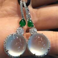 Moonstone Topaz Ohrringe Emerald Rhinstone Senken der Schalldämpfer Kristall