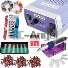 30000RPM Nail Drill Machine Electric File Acrylic Gel Nail Grinder Bits Kit BKK