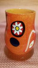 Murano Hand Blown Glass Vase 7 inches tall yellow