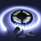 Waterproof Cool White 300 SMD 3528 5M LED Strip Light AC 240V to DC 12V Adapter