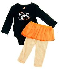 Carters Girls Halloween Tutu Leggings Set I Put a Spell on Daddy Size 12 Months