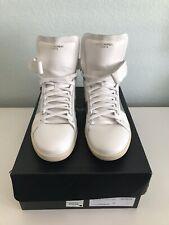 YSL Saint Laurent Men's Retro SL/14H White High Top Sneakers Flats Size 44