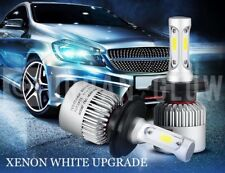 2x H7 499 HIGH POWER LED XENON WHITE HEADLIGHT BULBS LOW/DIPPED BEAM AUDI BMW