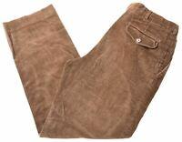 L.L.BEAN Mens Corduroy Trousers W33 L30 Brown Cotton Straight Vintage DX14