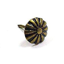 """100 Upholstery Tacks Nails Daisy Ornamental 5/8"""" Shank decorative"""