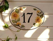 """Numero Civico con Disegno Personalizzato – """"disegno floreale"""" 12*9 unico al"""