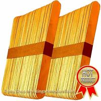 120 LARGE JUMBO NATURAL WOODEN LOLLIPOP LOLLY STICKS 150mm x 19mm