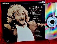 MICHAEL KAMEN Concerto for Saxophone LASERDISK 1991 ITALY MINT- Eric Clapton