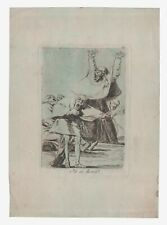 "Francisco Goya aquatint and etching from ""Los Caprichos"", Number 80-Ya es hora"