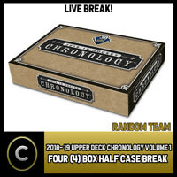 2018-19 UPPER DECK CHRONOLOGY VOL 1 4 BOX HALF CASE BREAK #H375 - RANDOM TEAMS