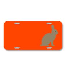 Animal Rabbit Bunny Mammal Rabbit On License Plate Car Front Add Names
