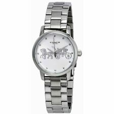 Coach Women's Grand Silver Dial Stainless Steel Watch 14502975 $195