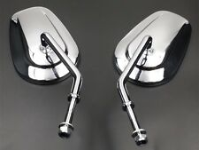 Long Oval Rear View Side Mirror For Harley Cruiser Touring Road King Electra 48