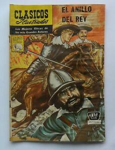 VINTAGE RARE CLASSICOS ILLUSTRADOS EL ANILLO DEL REY #130 MEXICAN COMIC 1965