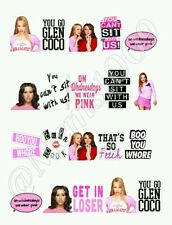 Mean Girls nail decals Free shipping!! Water decals.