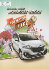 Toyota Avanza MPV car (made in Indonesia) __2018 Prospekt / Brochure