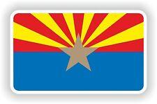 Sticker Flag of Arizona State Bumper Surfboard Skateboard Motorcycle Guitar Bike