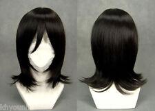 Black Bleach Kuchiki Rukia Straight Medium Short Anime Cosplay Wig