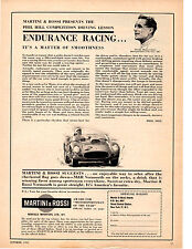 1961 PHIL HILL / MOTORSPORTSMAN OF THE YEAR  ~  ORIGINAL MARTINI & ROSSI AD