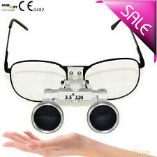 NEW Metal 3.5X 320mm Dentist Dental Surgical Medical Binocular Loupes IT