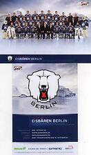 Eisbären Berlin-Mannschaftsfoto-Autogrammkarte Meistersaison 2012/2013-DEL-NHL