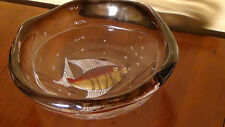 """LARGE MURANO """"FISH """"BOWL BY PINO SIGNORETTO ,SIGNED BY THE ARTIST"""