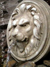 Brunnenfigur Wasserspeier LÖWE B-WARE Löwenkopf Steinfigur Relief mit Aufhängung