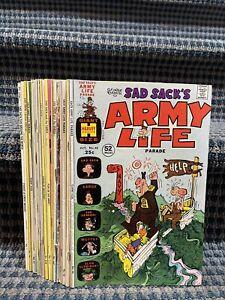 1970's SAD SACK'S Comics (Lot of 12) Asst. Titles, Harvey Comics (CB18)