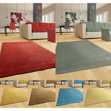Morgenland Gabbeh Teppich ASTERIA Rot Einfarbig Tiermotiv Schurwolle Handgewebt