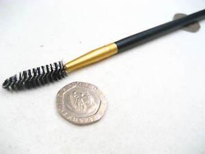 black eyebrow spoolie eyebrow brush wooden hand Eyelash Brushes Mascara Wands