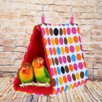 1PC Pet bird parrot parakeet budgie warm hammock cage hut tent bed hanging cave