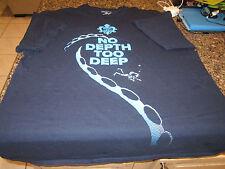"""Song Of The Deep T-Shirt - Blue - XL - """"No Depth Too Deep"""""""