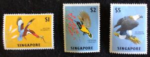 Singapore Elizabeth II 1963 High Values Mounted Mint SG75/7 C/V £50.00