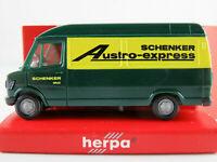 """Herpa Mercedes-Benz 207 D Kasten (1977) """"SCHENKER Austro-Express""""1:87/H0 NEU/OVP"""