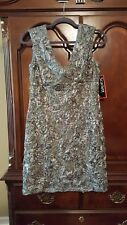 Ladies Size 10  Grey Satin Cocktail Dress