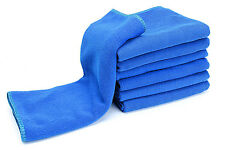 Auto Car Soft Microfiber Absorbent Blue Towel 30 x 70cm Wipe Cleaning Tool zyx