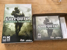 Call of Duty 4: Modern Warfare (PC, 2007) Complete boxed game with key