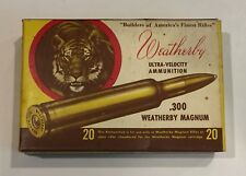 Weatherby Tiger Head 300 Magnum Ammo Box No Brass