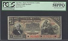 Argentina 5 Pesos 1-1-1889 PS742s Specimen About Uncirculated