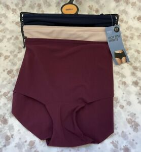 NEW! M&S Marks & Spencer Small UK8-10 3 pairs high rise shorts knickers briefs