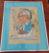 VINTAGE 1972/70'S Americana Art Caricature by Don Pottratz West Palm Beach Funny