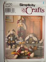 "Simplicity Crafts 9430 Draft Stopper 28"" Decorative Bunny Clothes Pattern UC FF"