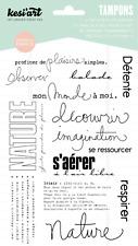 Tampons transparents Kesi'art NATURE scrapbooking pages découvrir détente balade