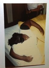 Vintage 70s Found PHOTO Family Taking Turns Sleeping In Crowded Motel Room Bed 2
