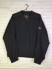 Callaway Mens Size M Tour Authentic Golf Pullover Shirt Jacket Windbreaker Black