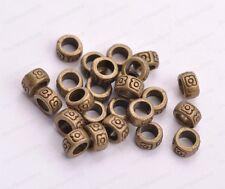 50/100Pcs Tibetan Silver /Gold/Bronze Flower Spacer Beads 7MM  JK3026